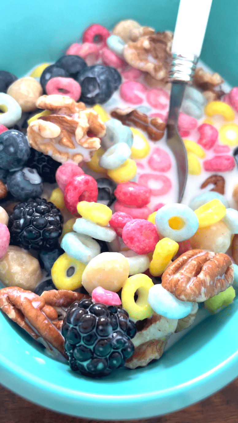 Magic Spoon with nuts and fruits.