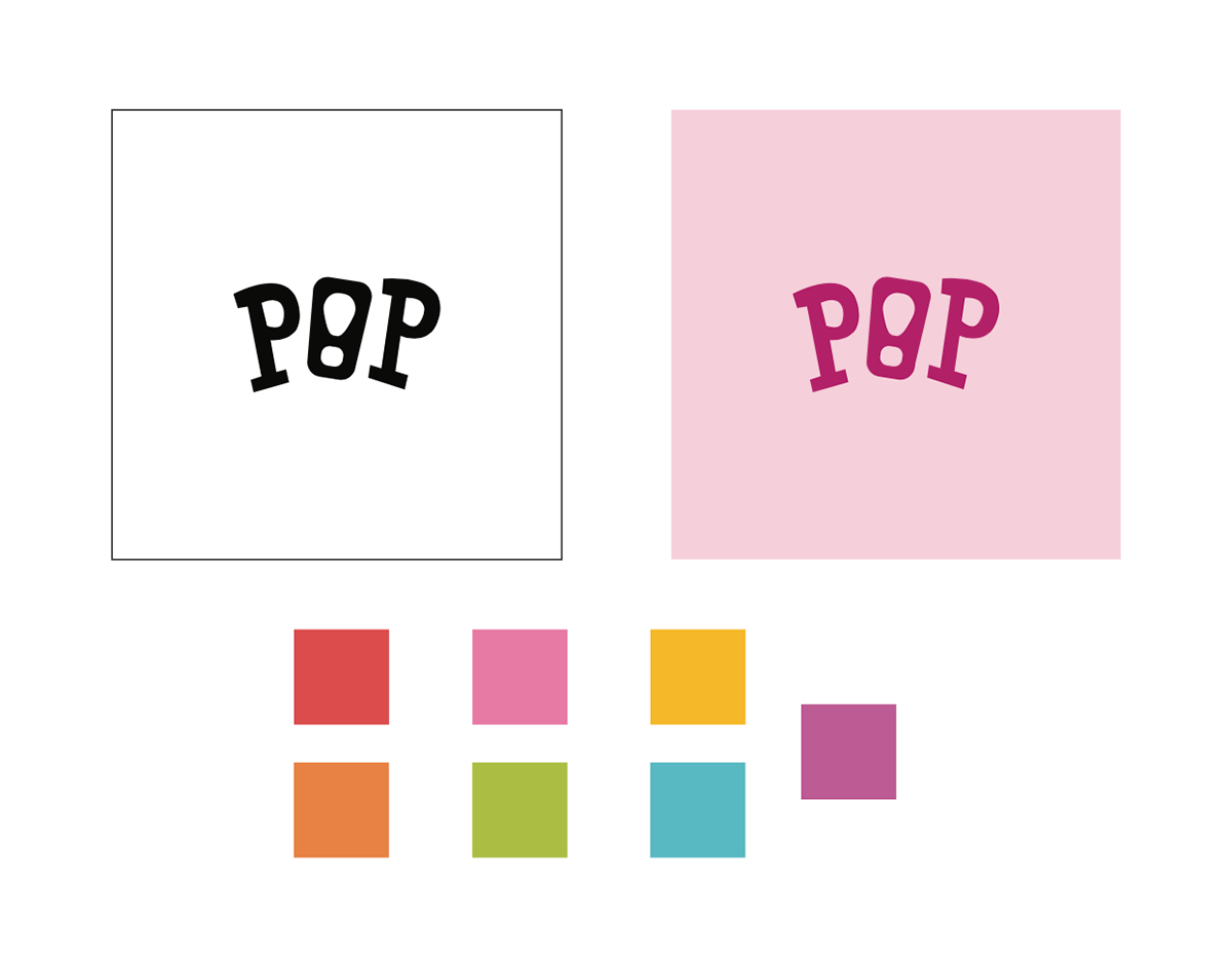 Pop logo and colors