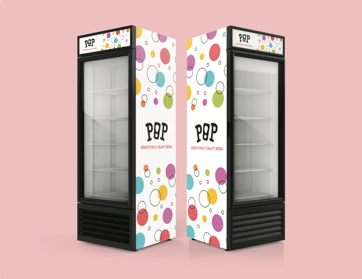 mockup of Pop soda machines