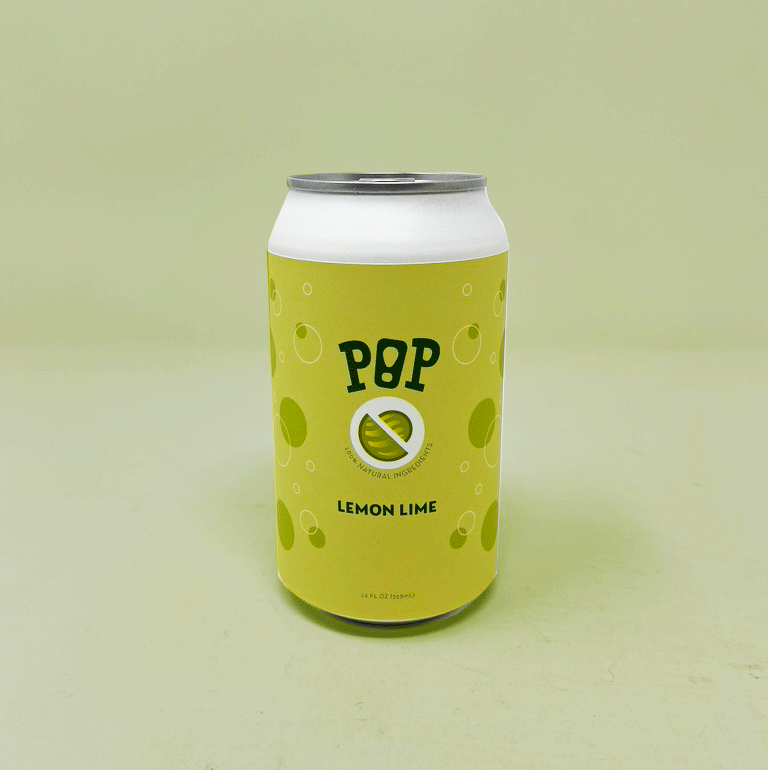 Lemon Lime soda can packaging