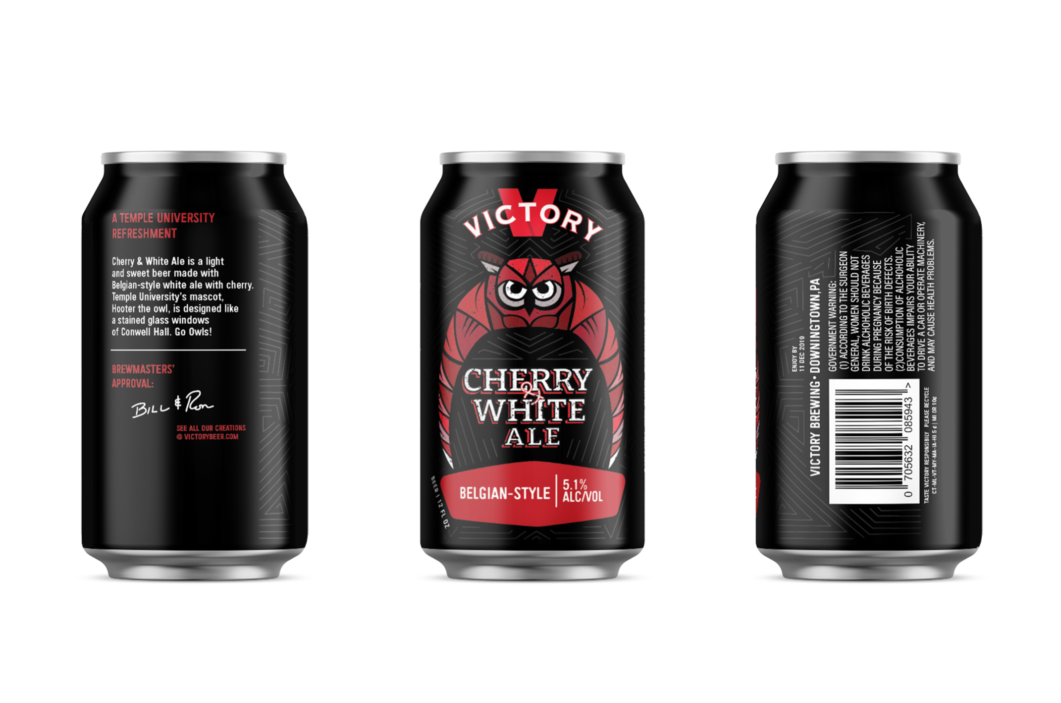 Cherry & White Ale in a can