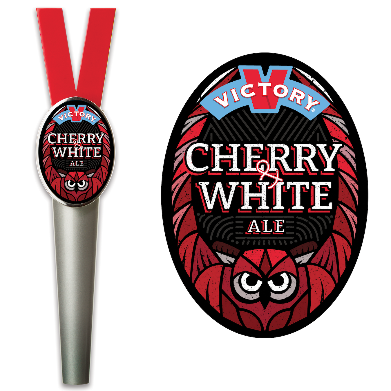 Cherry & White Ale tap sticker