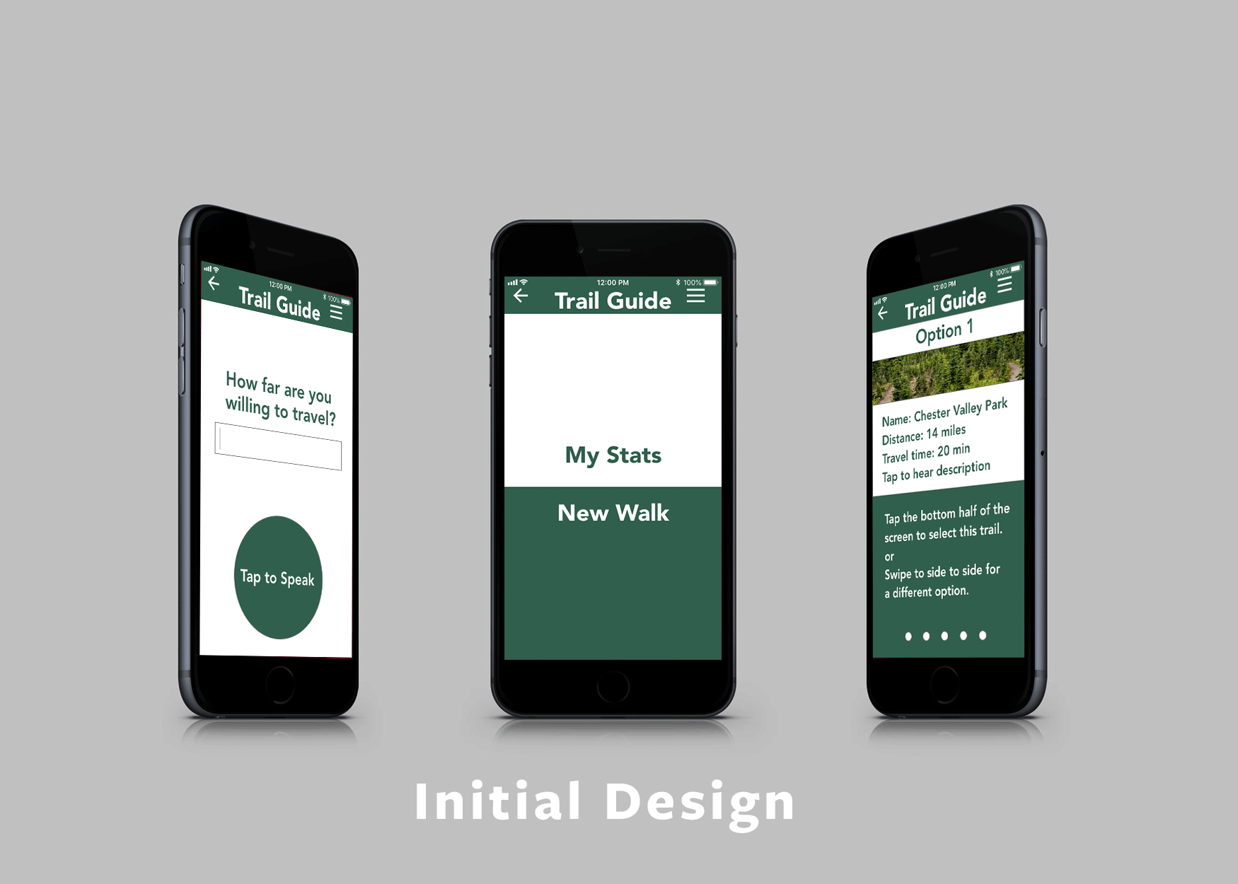 initial design of the app when we presented it to the judges