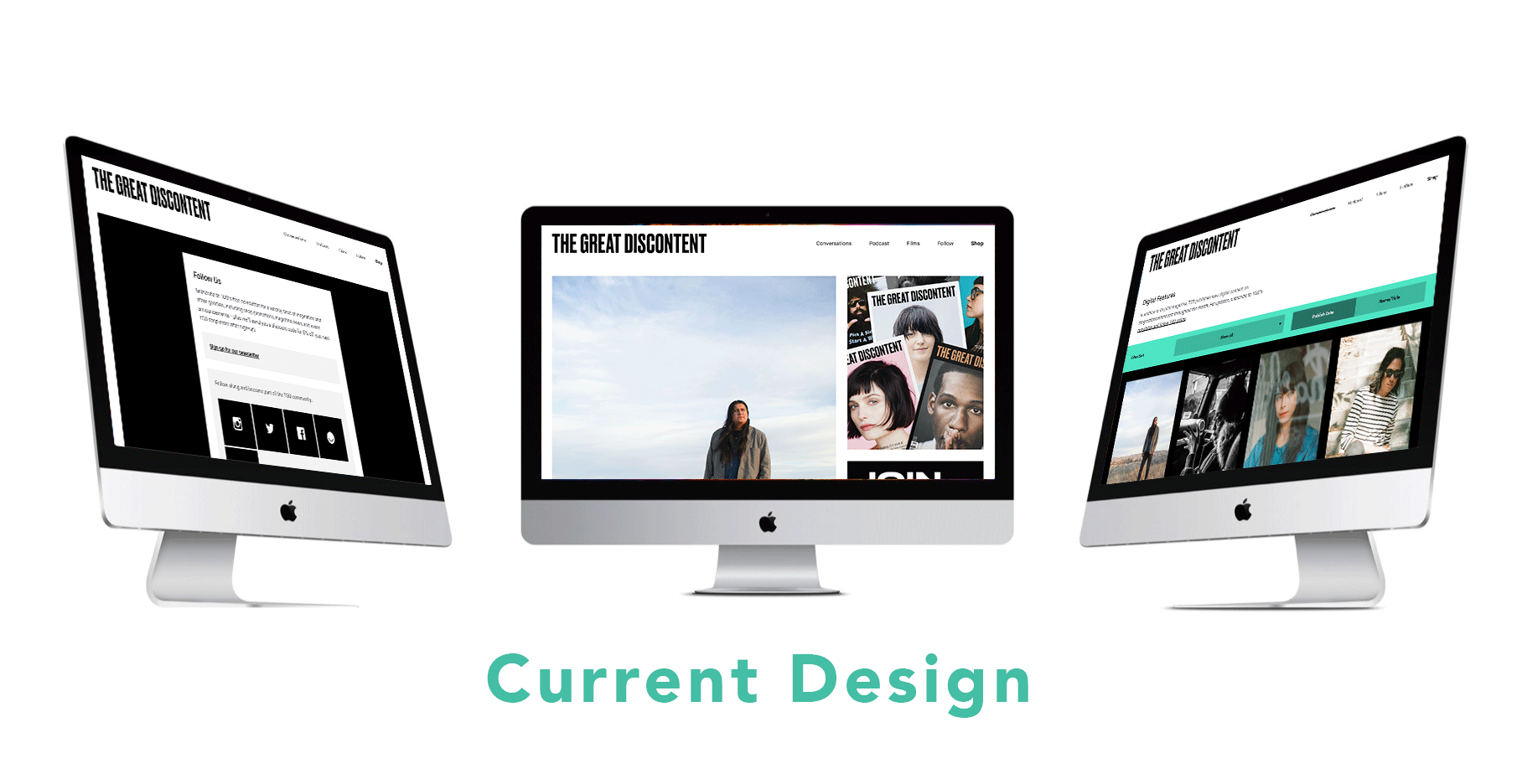 the current design of The Great Discontent's website