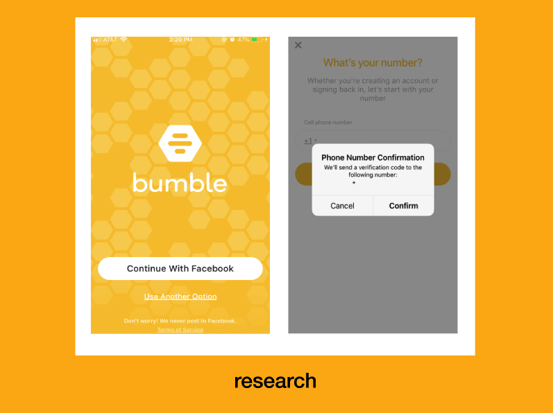 looking at Bumble app as a research