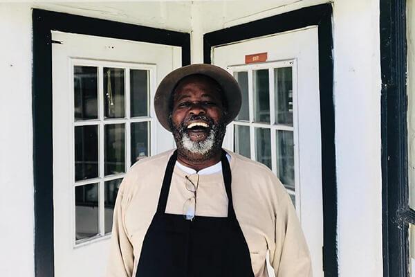 Bill Green, chef, farmer and fisher of Gullah Grub Restaurant on St. Helena.