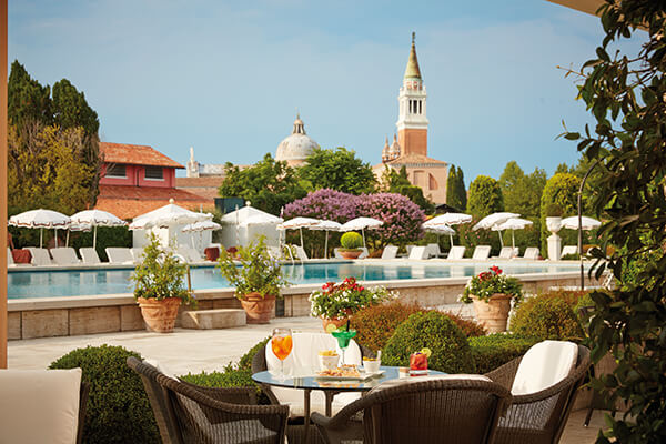 Breakfast with a view of Piazza San Marco at the Michelin star rated Oro Restaurant in Venice, Italy