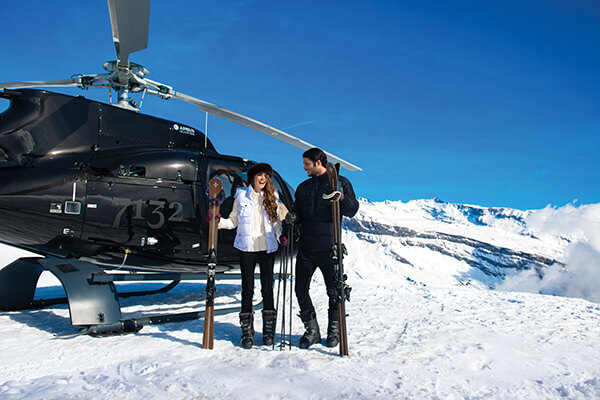 Hotel 7132 offers heli skiing in the Swiss Alps