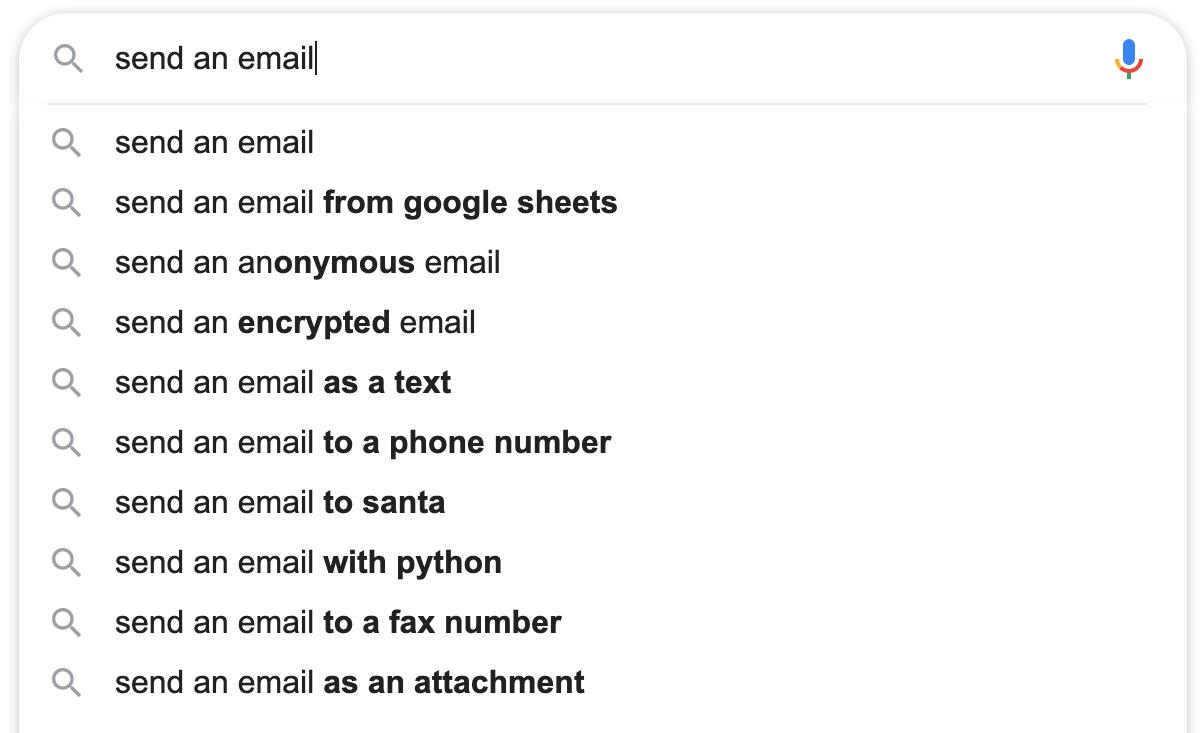 Search engine self-service
