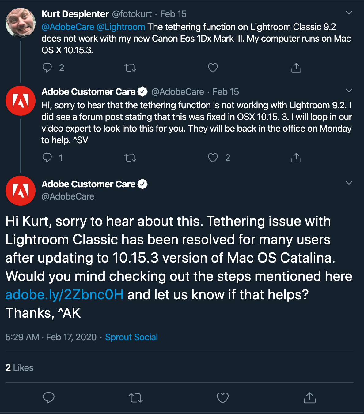 @AdobeCare self-service