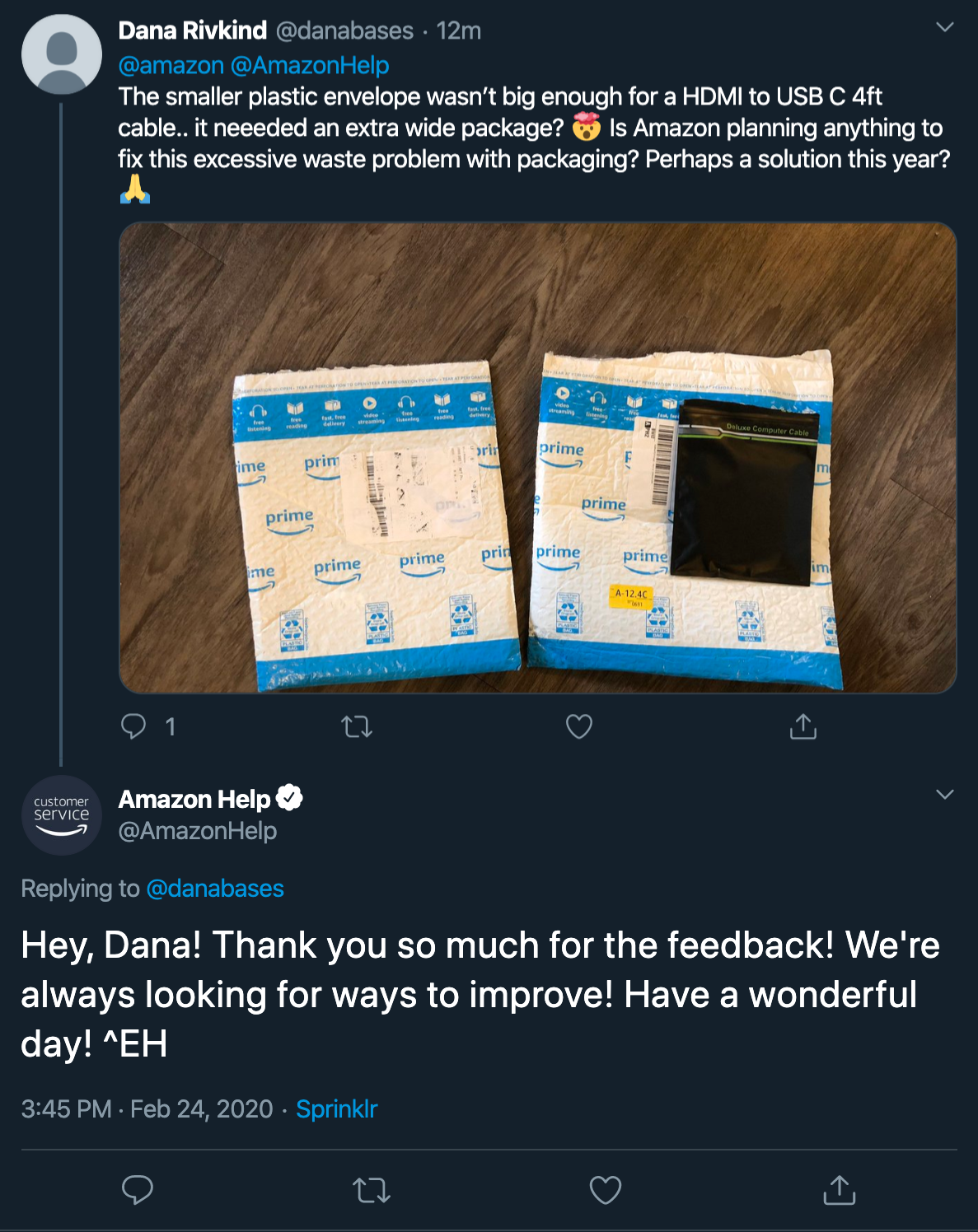 @AmazonHelp self-service
