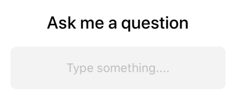 Ask Me A Question box
