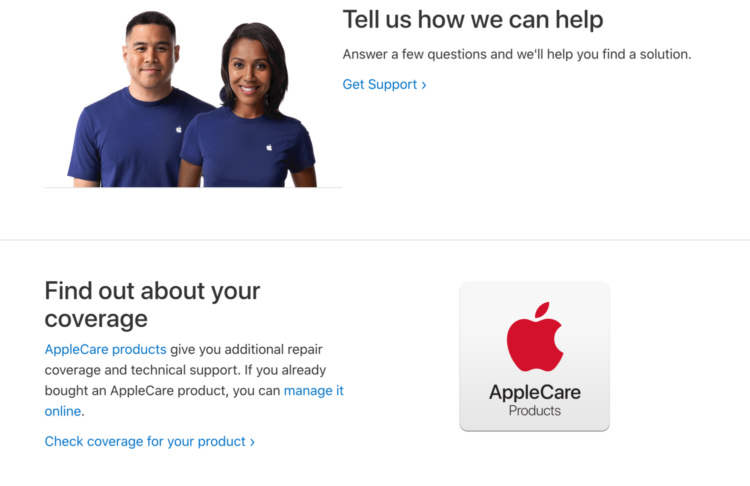 Apple contact self-service