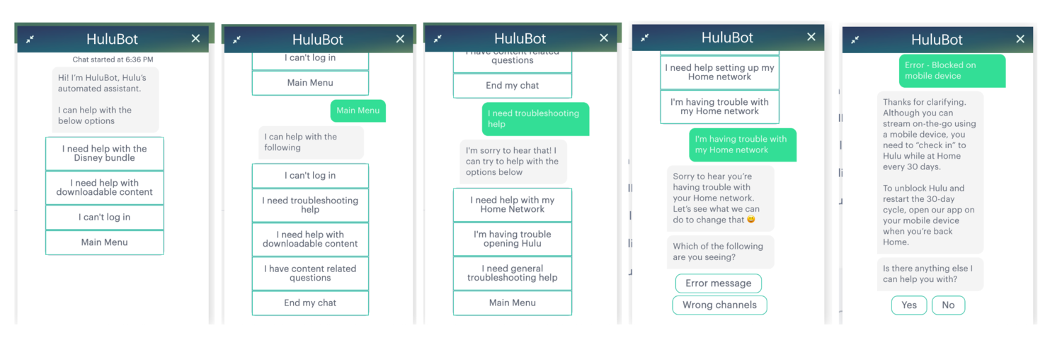 Hulubot chat box self-service