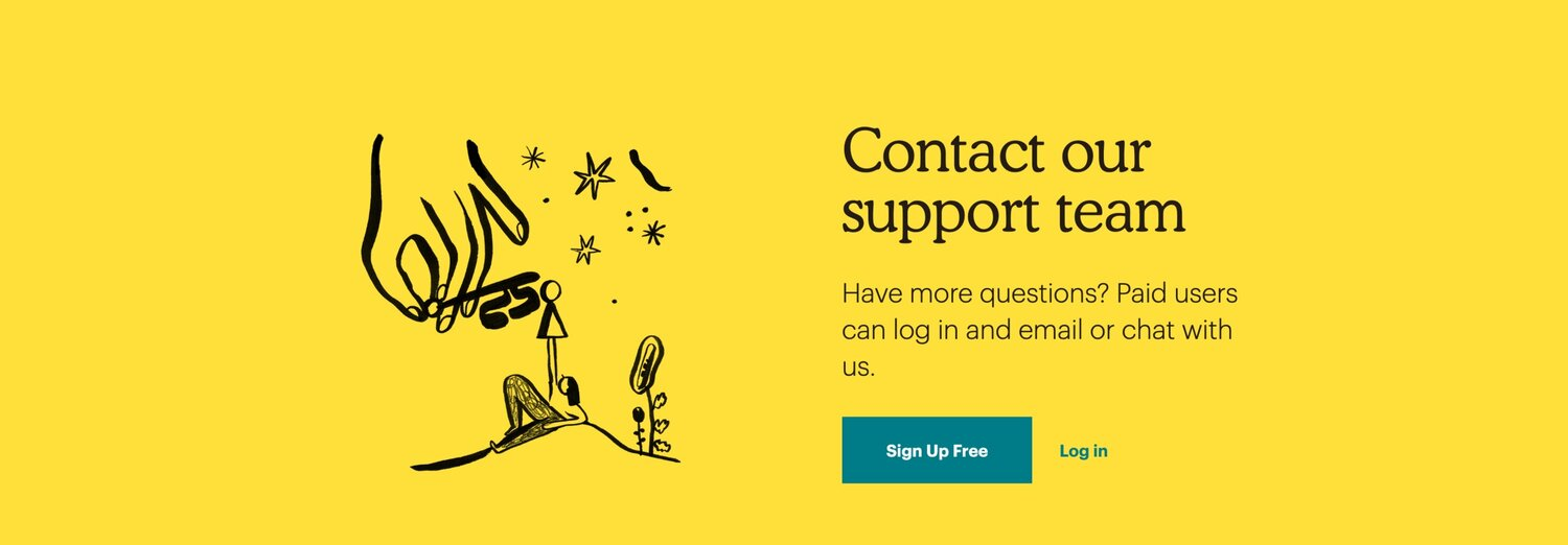 mailchimp contact self-service