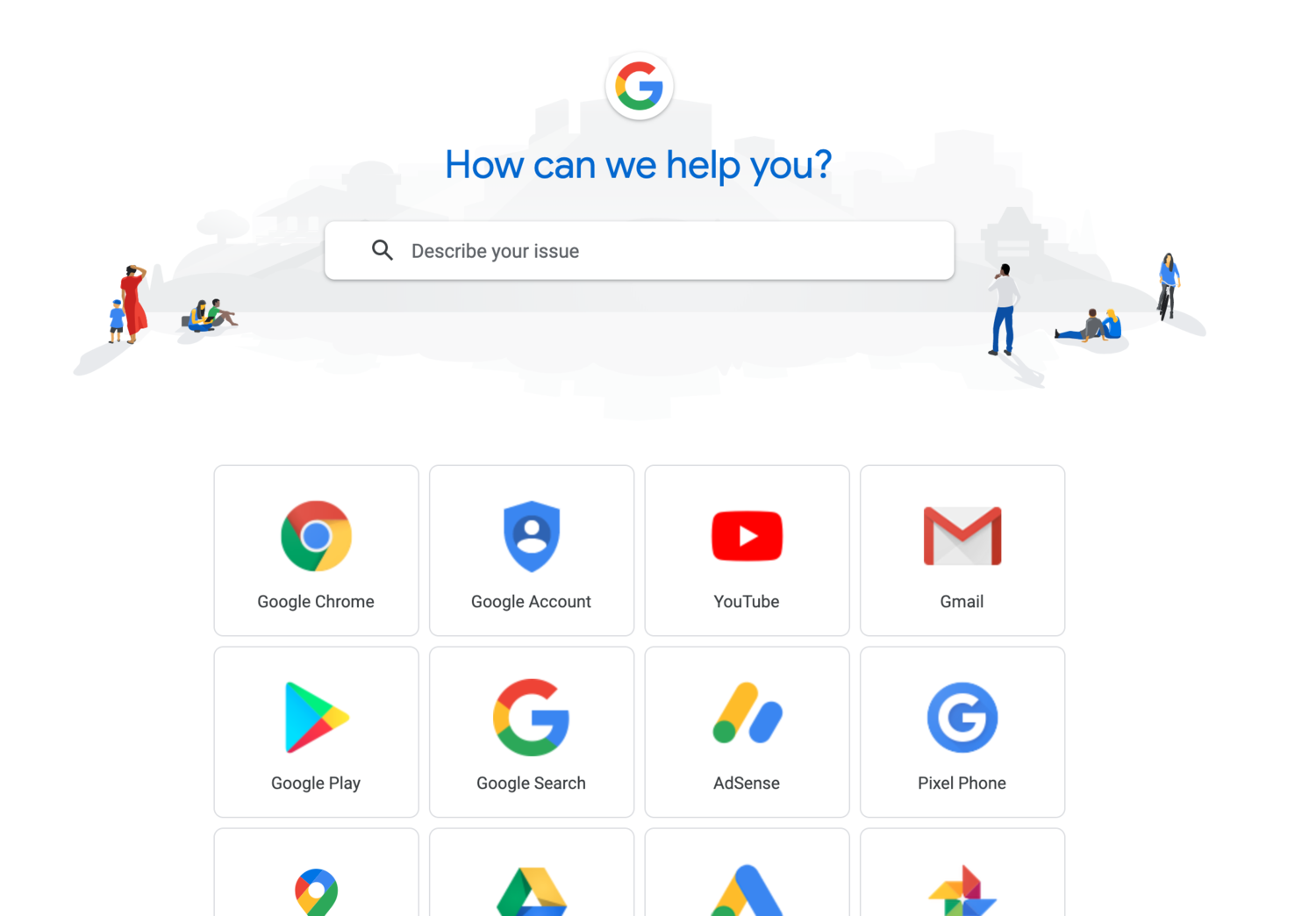 Google help center self-service