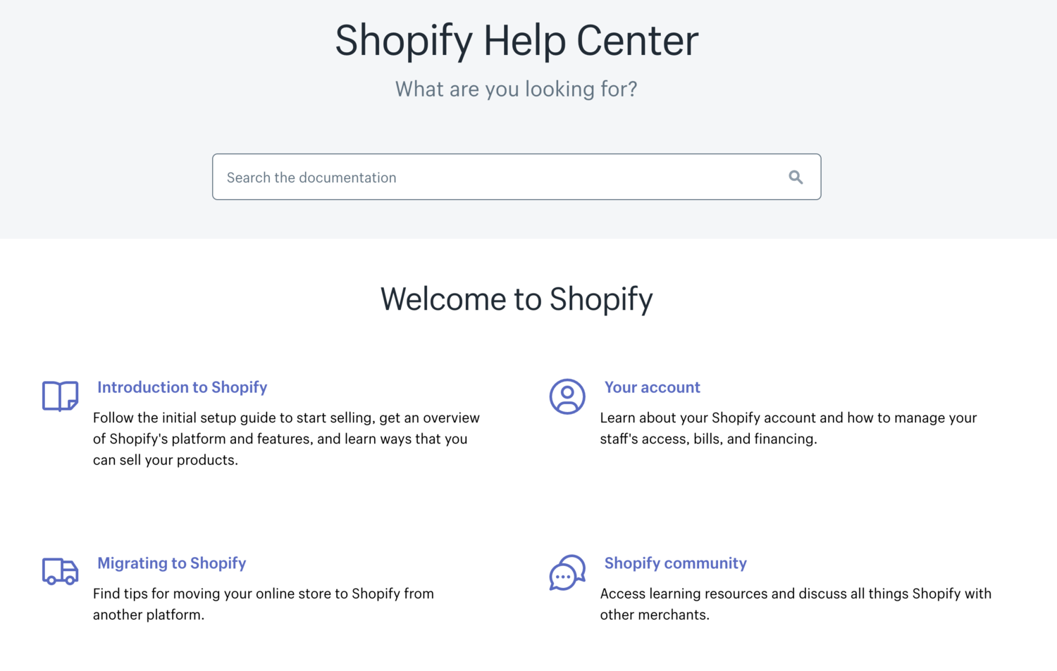 Shopify help center colors