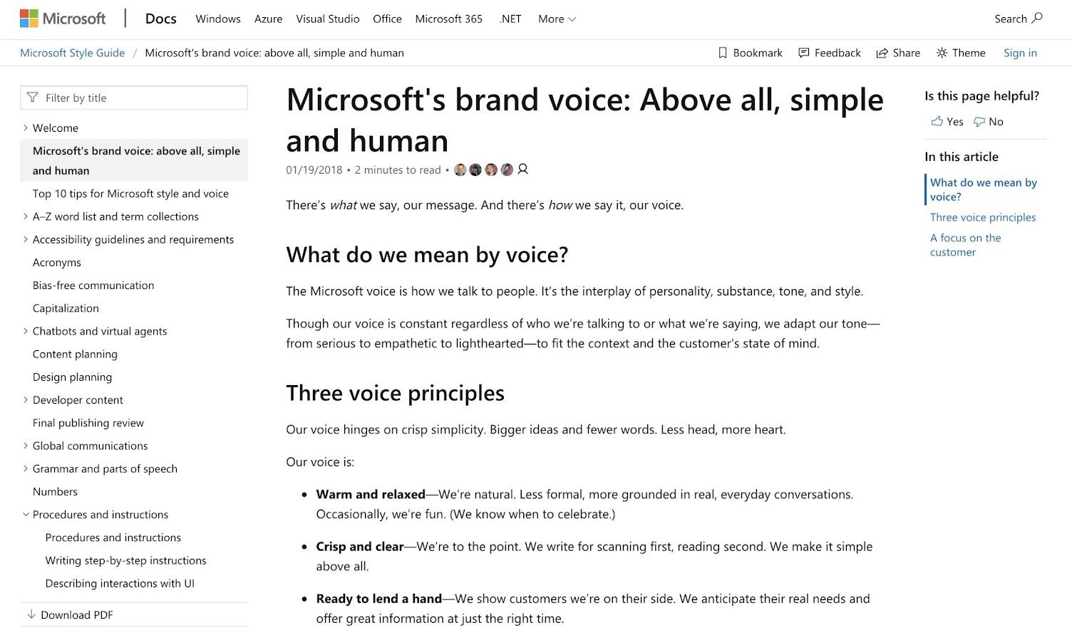 Microsoft voice knowledge base self-service