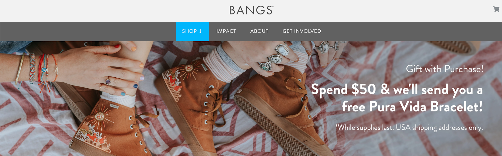Bangs shoes puravida