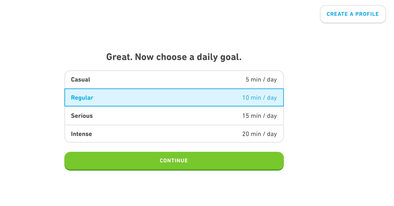 Duolingo self-service onboarding