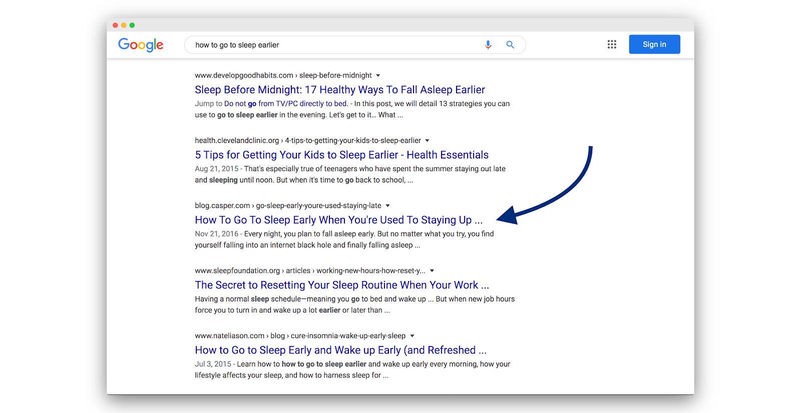 Google search results for Casper