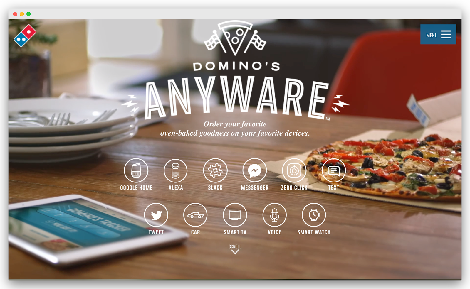 Domino's chat options