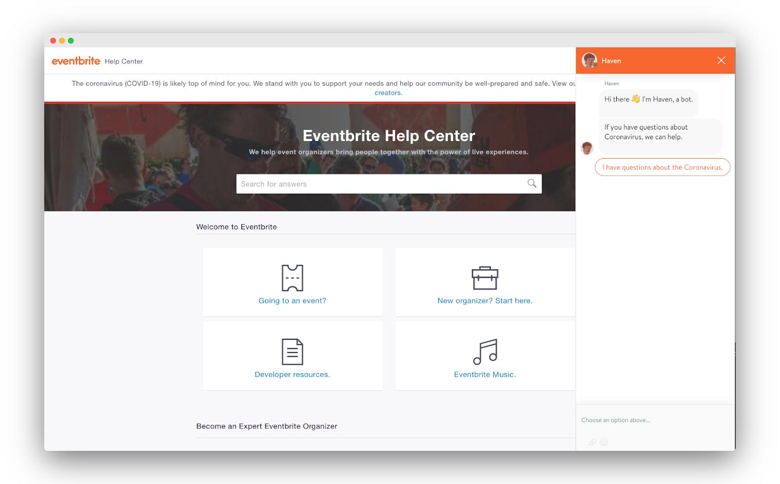 Eventbrite conversation design