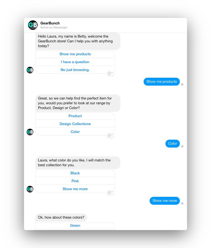 Gearbunch conversation design