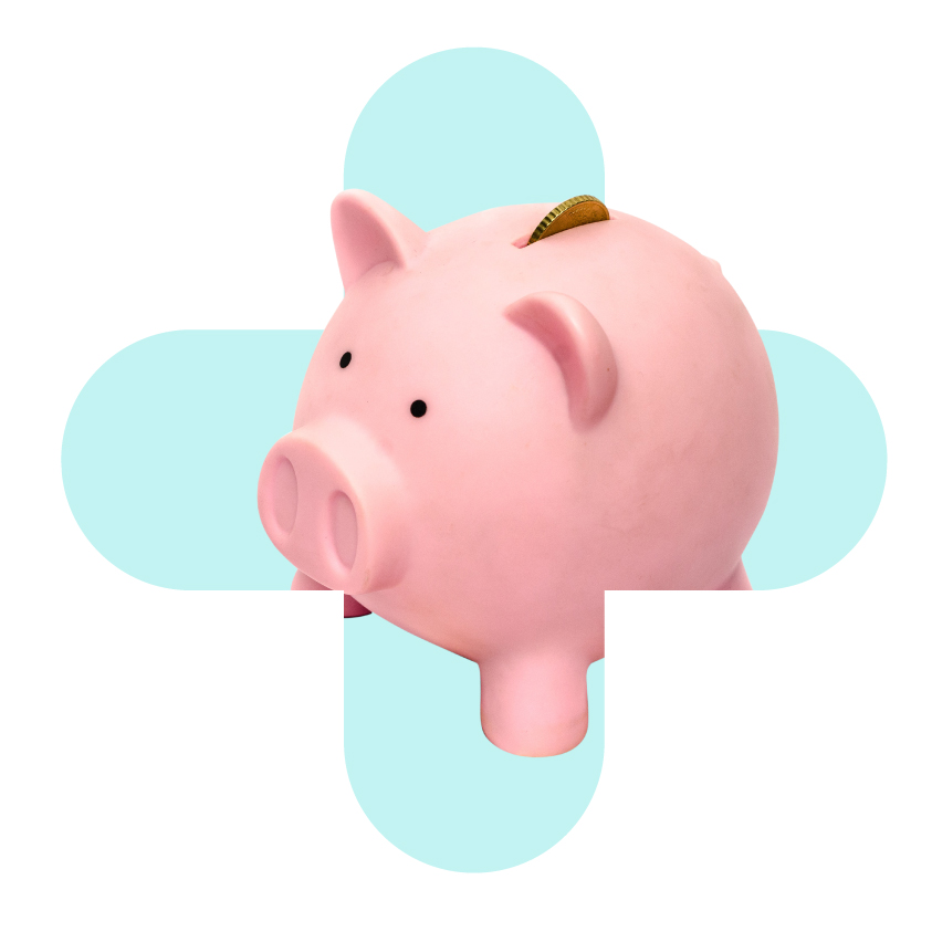 Piggy bank for savings money