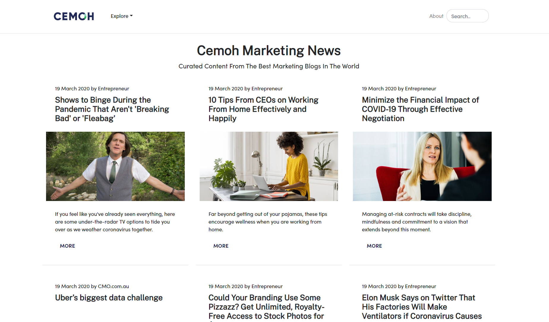 Cemoh News - Curated Marketing News