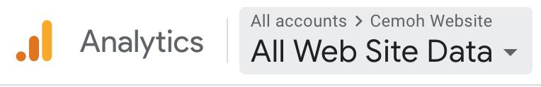 google analytics account selector