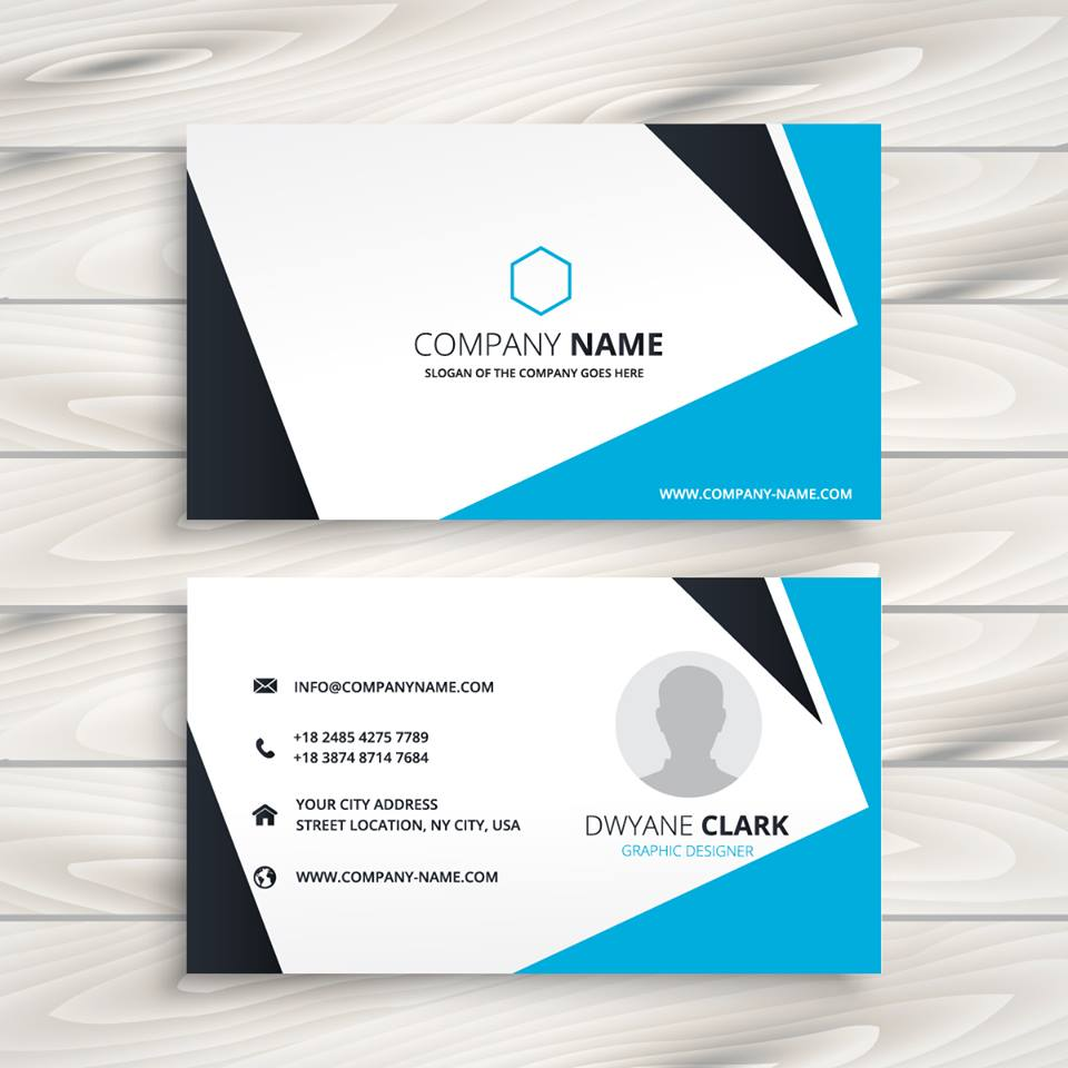 sample business cards with logo and information