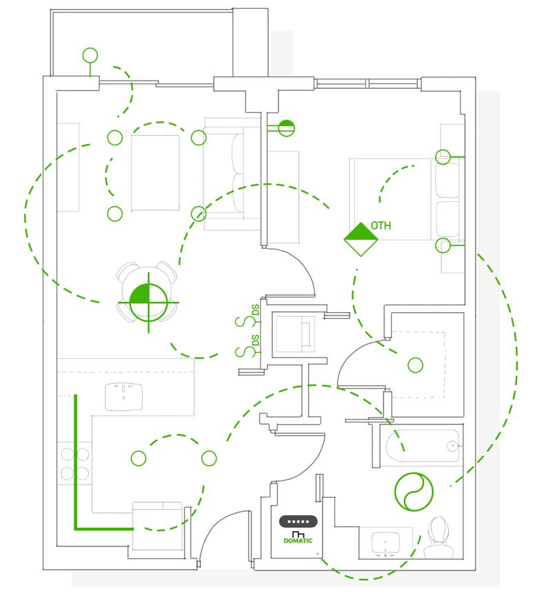 Image of sample Domatic floorplan