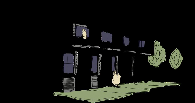 Image of multi-dwelling unit sketch
