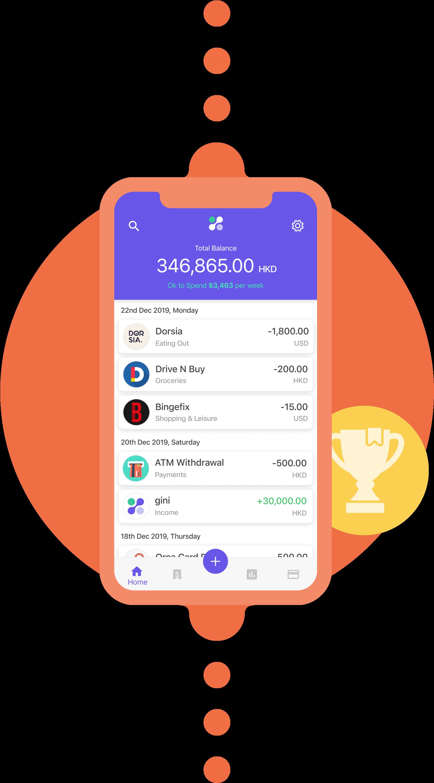 gini's award-winning personal finance app