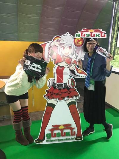 去年のCybozu Days ジョイゾーの琴絵さんとツーショット