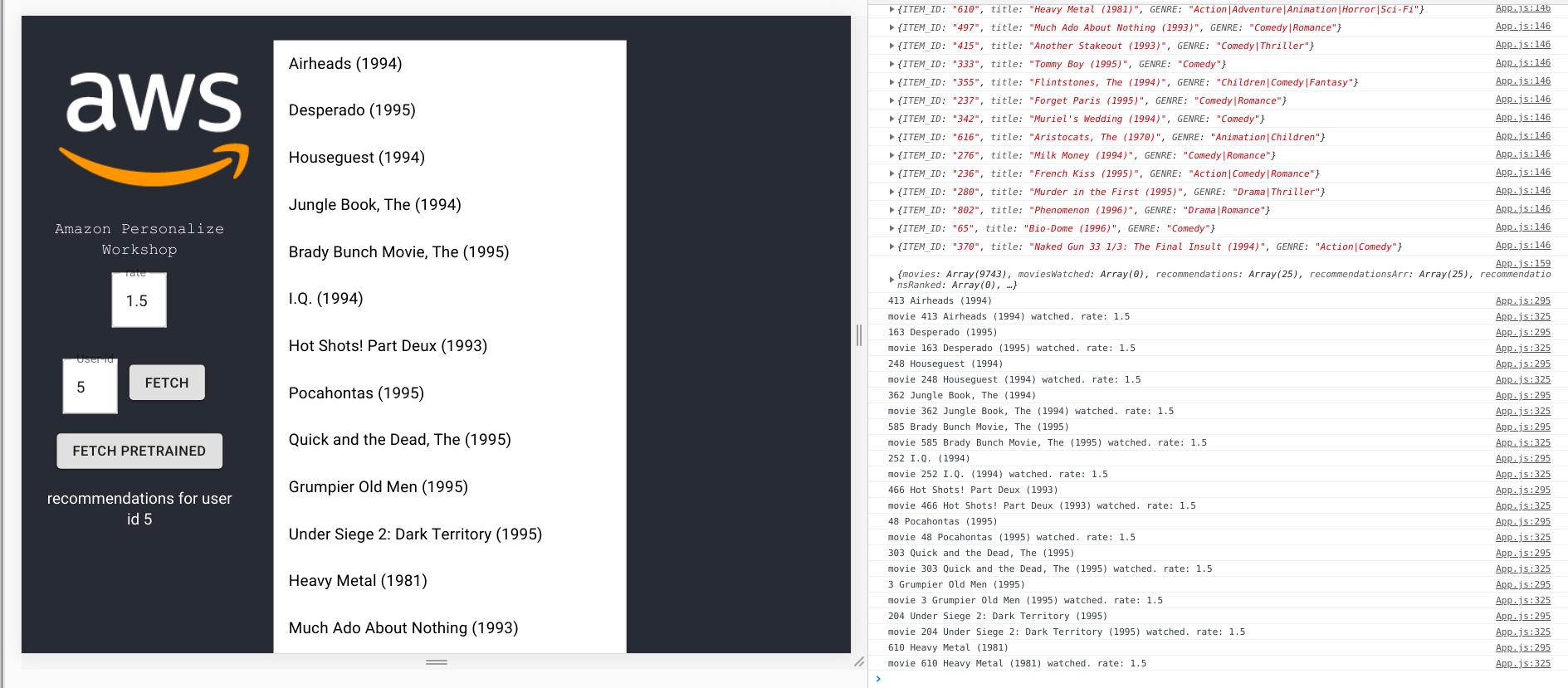 Amplify の AmazonPersonalizeProvider を使用して Analytics.record でイベントを送るAmplify の AmazonPersonalizeProvider を使用して Analytics.record でイベントを送る