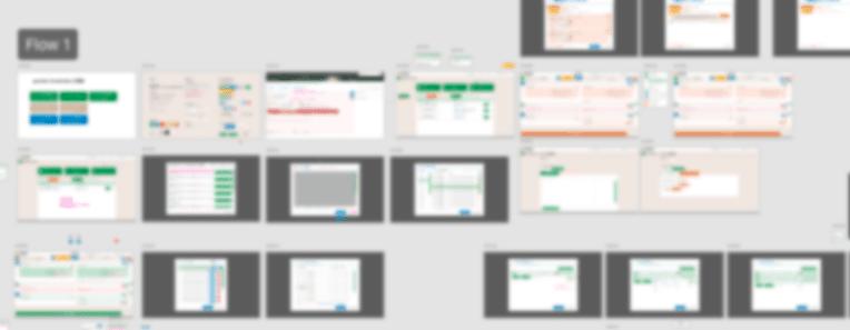 画面遷移図から作ったAdobe Xdファイルの一部