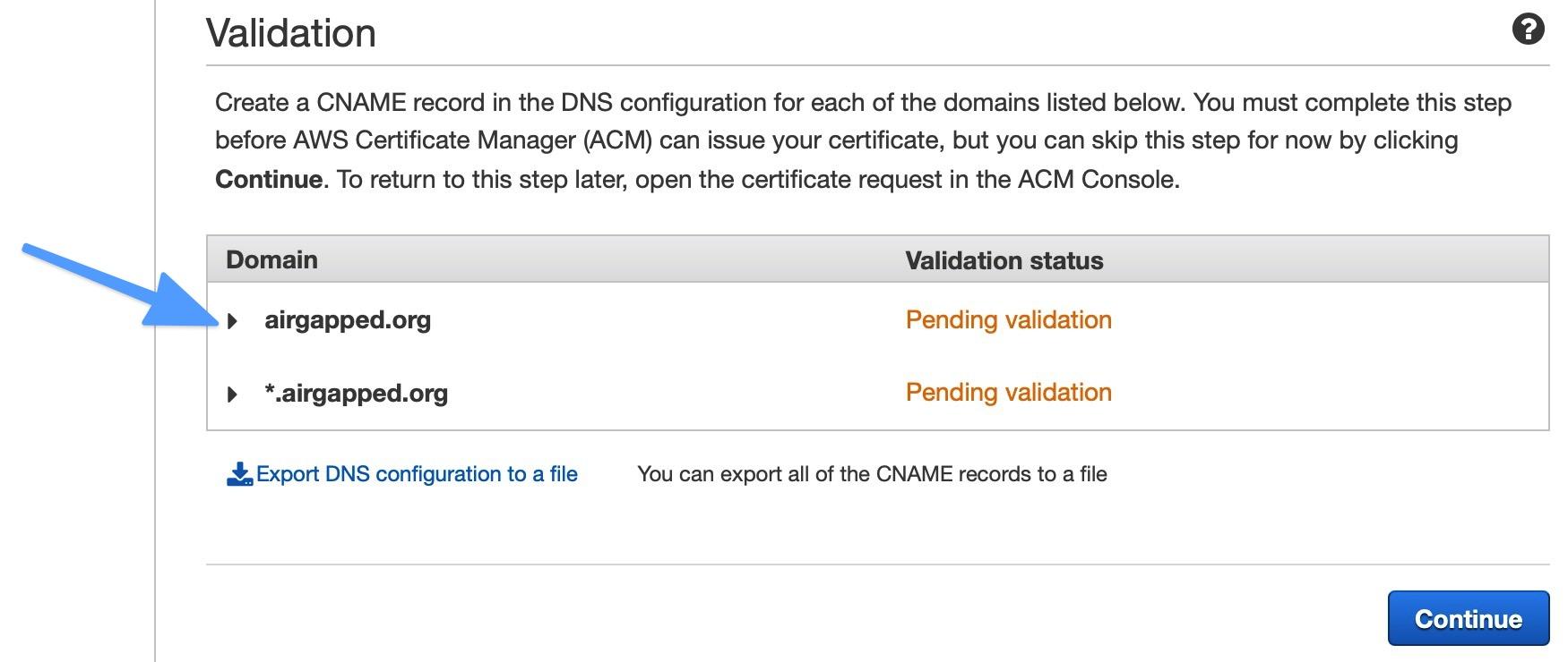 Domain Verification