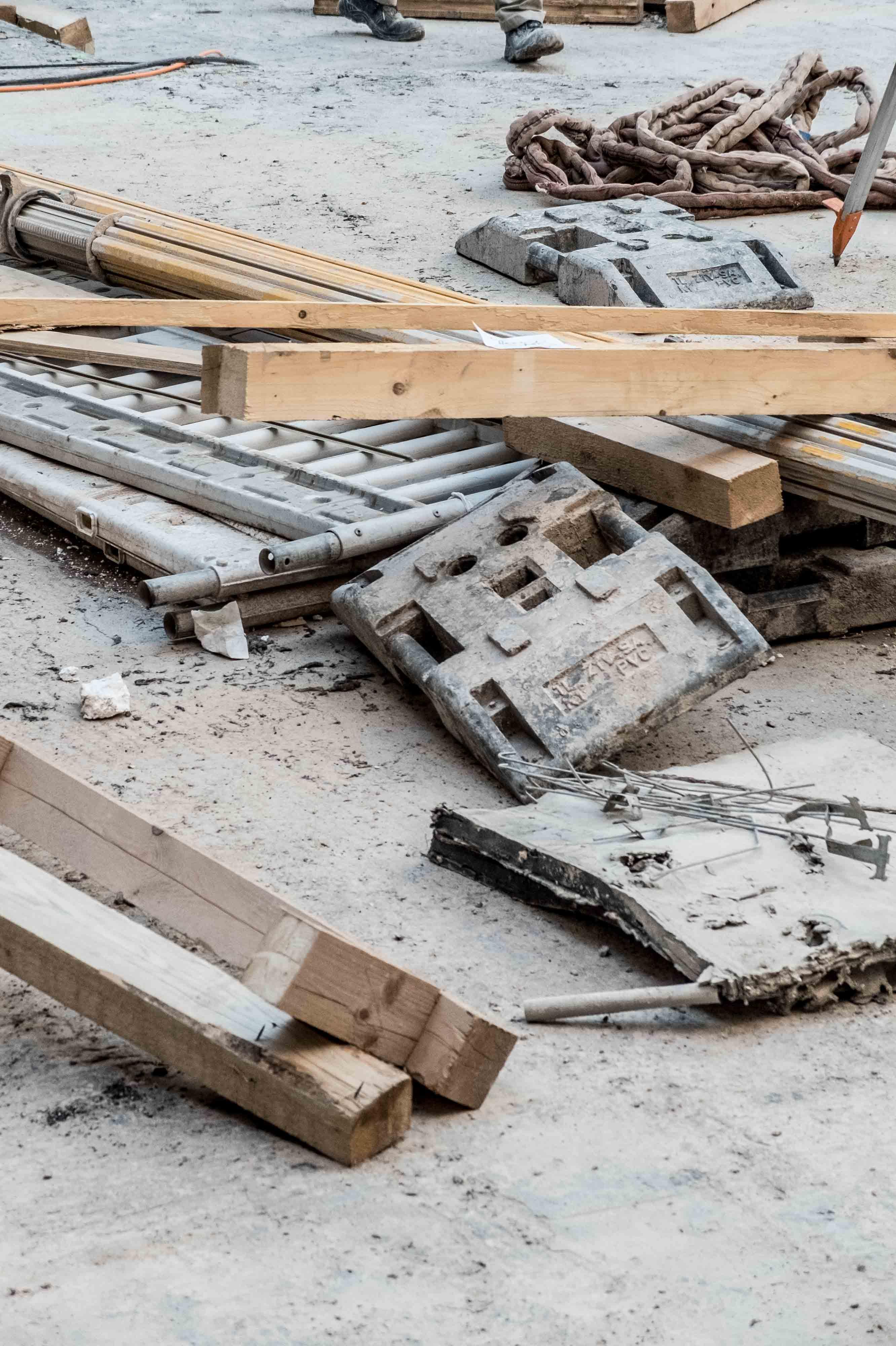 Building site materials.
