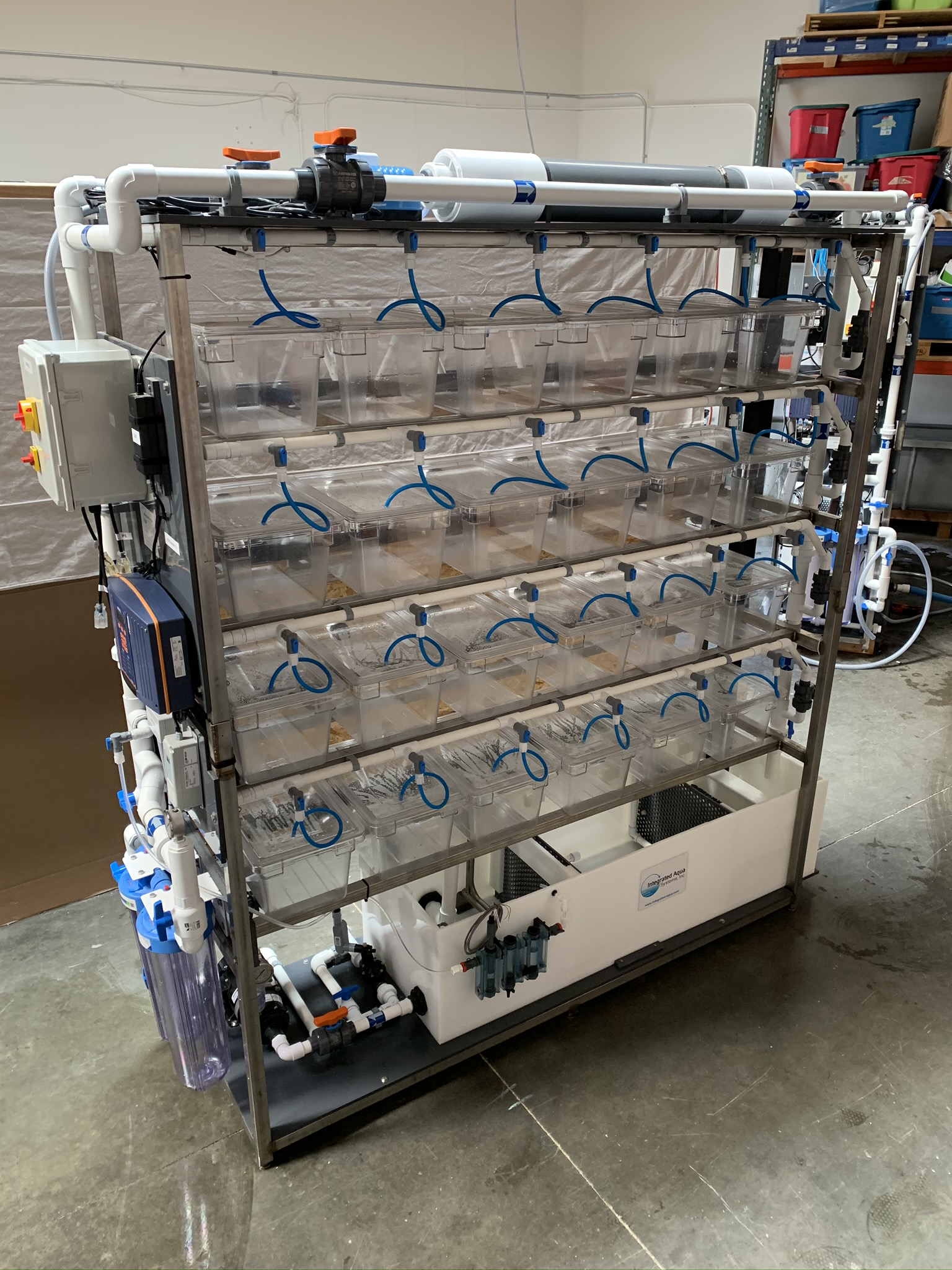 Integrated Culture Module Rack System front view