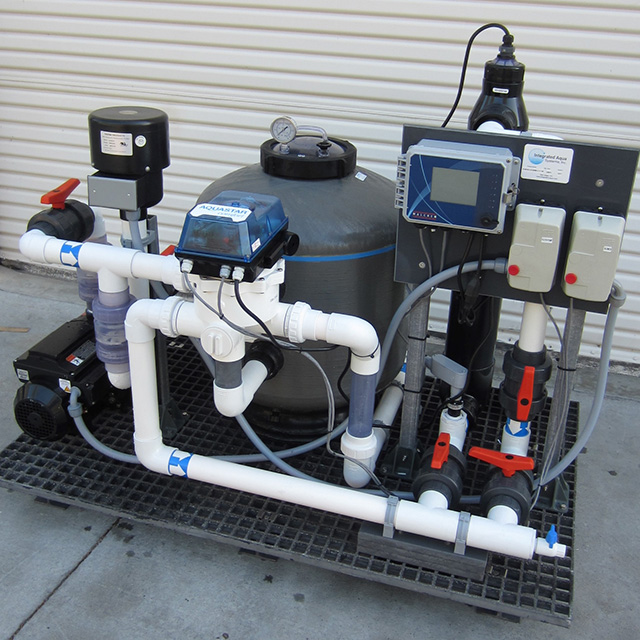 Integrated Filtration System with media filter and UV sterilizer unit