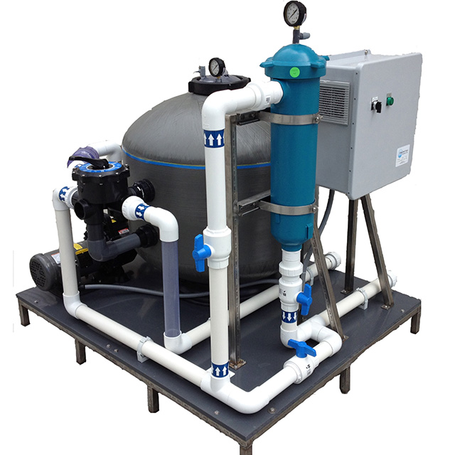 Integrated Filtration System with media filter and canister filter