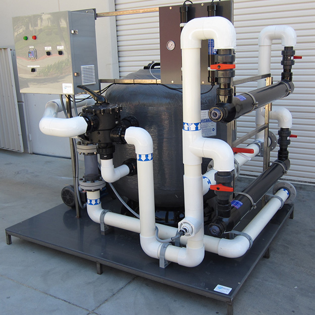 Integrated Filtration System with with dual UV disinfection units