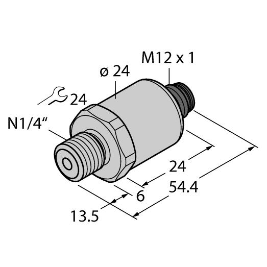 PT Series Pressure Transducer Diagram
