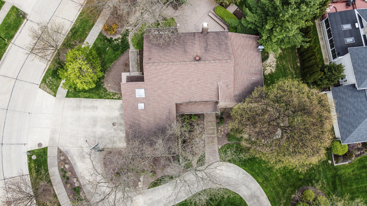 home roof drone picture