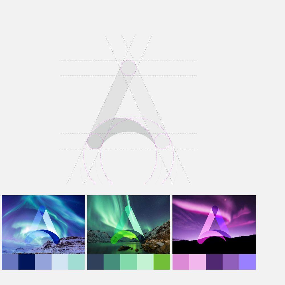 Aurora design showcasing new brand colour palette.