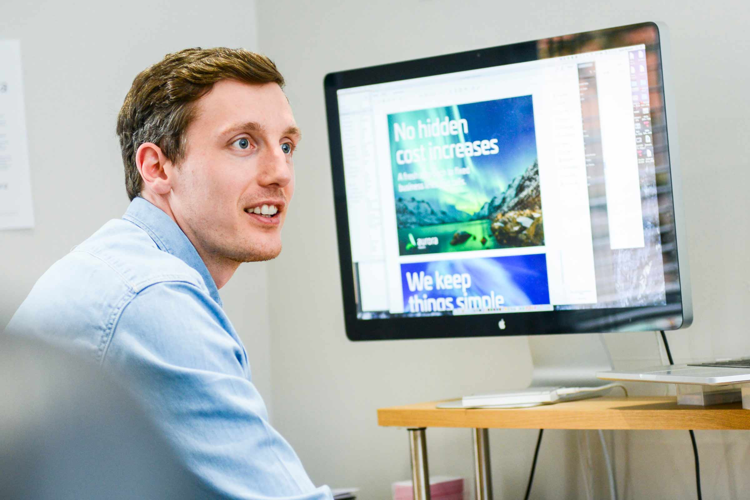 James Newland the Creative Director at Wider Design Agency in Solihull