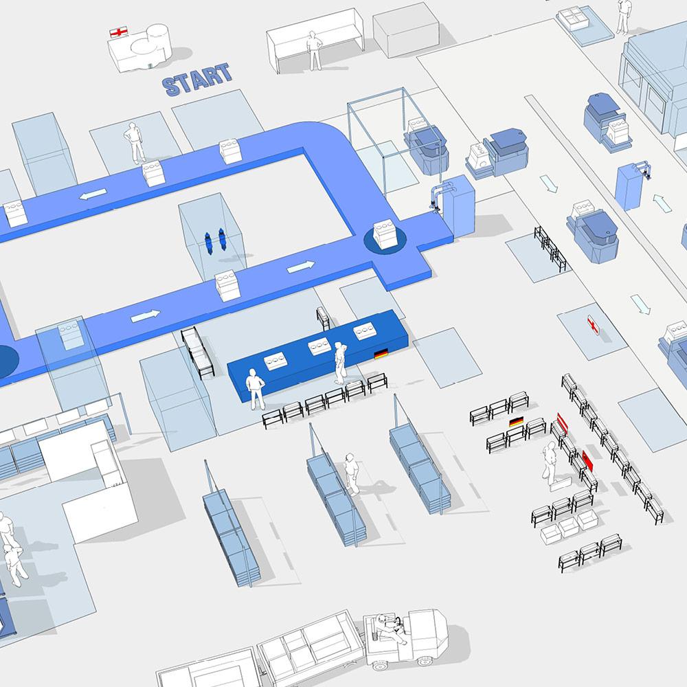 Technical 3D illustration for BMW