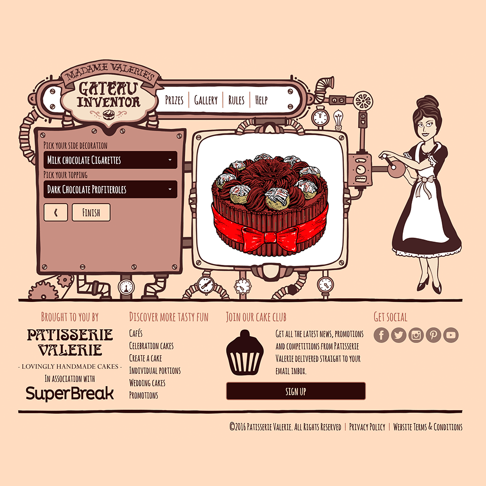 Custom illustrations designed for a website
